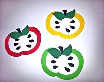 20 apple with seeds die cuts