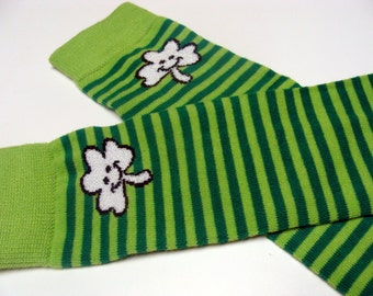 Happy Clovers St. Patrick's Day Baby Leg Warmers