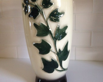 Vintage Royal Copley Ivy Footed Vase circa 1940-50s