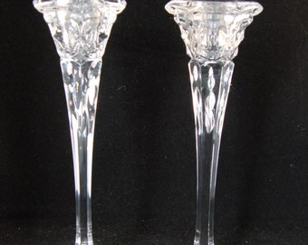 Vintage lead crystal candle holders (2 candle holders)