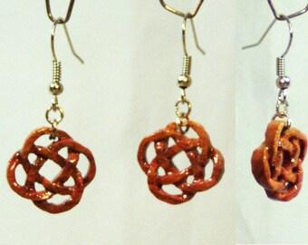 "Earrings made of wood ""Earth symbol"""