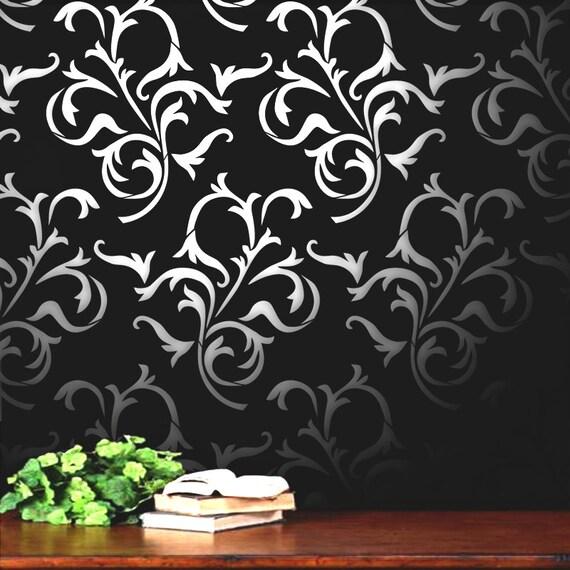 Schablone Blume Wand Wand Schablone Blume Blätter