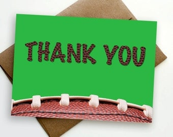 INSTANT DOWNLOAD Football Thank You Card - Printable file
