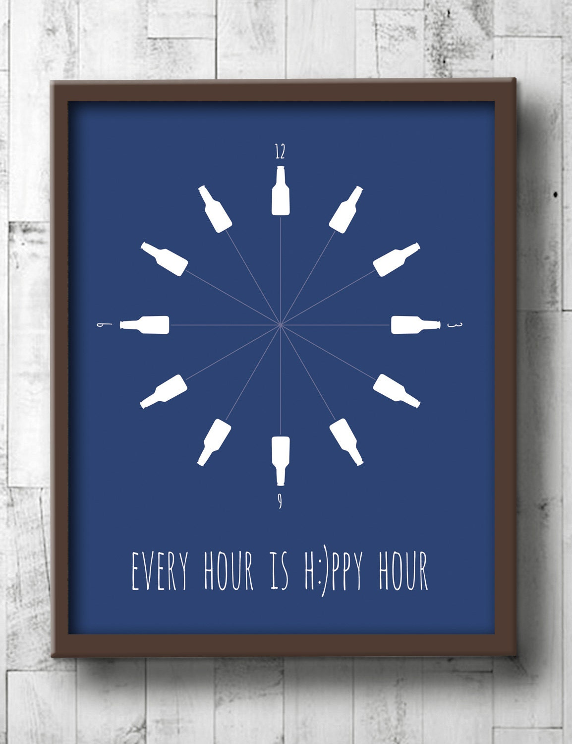 Beer poster beer wall art dining room prints every hour for Dining room posters
