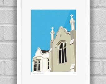 Old College, Dulwich, London - Limited Edition Giclée Art Print / Poster