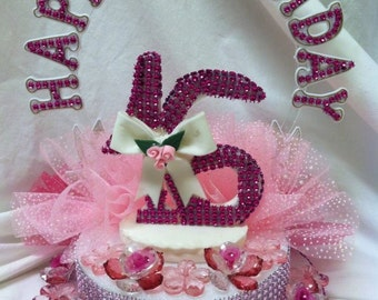 Sweet 16 Centerpiece Cake Topper Decoration You Choose Color New