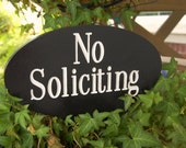No Soliciting Garden Sign