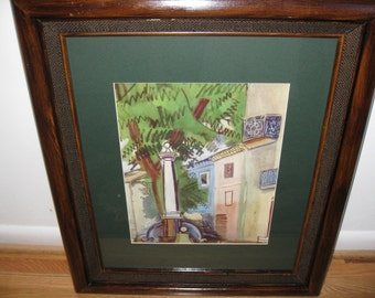 "ANTIQUE FRAMED PRINT Nelson Doubleday Printer 21"" X 25"""