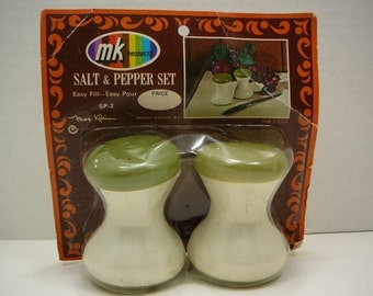 Max Klein, NIP, Vintage Salt and Pepper Shakers, 1960s-1970s, Mid Century