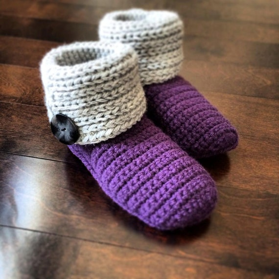 "Crochet Pattern: ""Knot Knit"" Slipper Boots, Permission to Sell Finished Items"