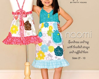 Pattern - Naomi Sundress and Top Paper Sewing Pattern by modkid designs