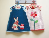Baby girls dress pattern Petal Reversible pdf dress sewing pattern sizes 6 - 9 months to 8 years by Felicity Sewing Patterns