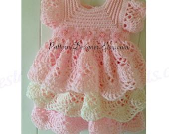 Crochet Ruffled Baby Dress Pattern : Crochet Ruffled Baby Dress Pattern galleryhip.com - The ...