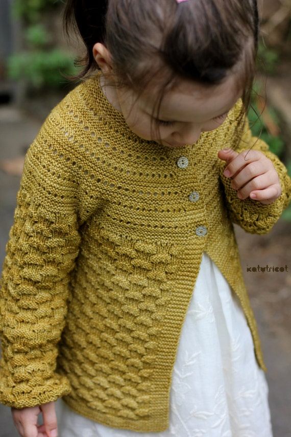 Knitting Pattern Cardigan For 18 Months : Knitting Pattern Elisa cardigan 6 months to 14