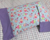 Whimsical Cupcakes Flannel Pillowcase