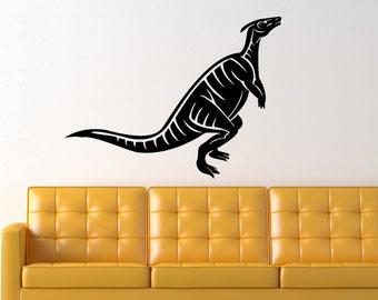 Hadrosaur  Dinosaur Prehistoric Animal Vinyl Wall Art Graphic Decal