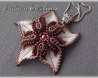 "Beaded pendant ""Desert Rose"" - tutorial"