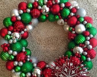 CUSTOM Christmas Wreath | Red & Green Wreath | Christmas Decor