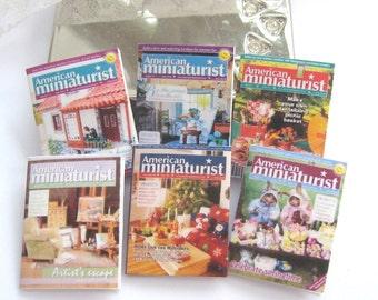 dollhouse magazines american miniaturist x 6 lakeland artist new