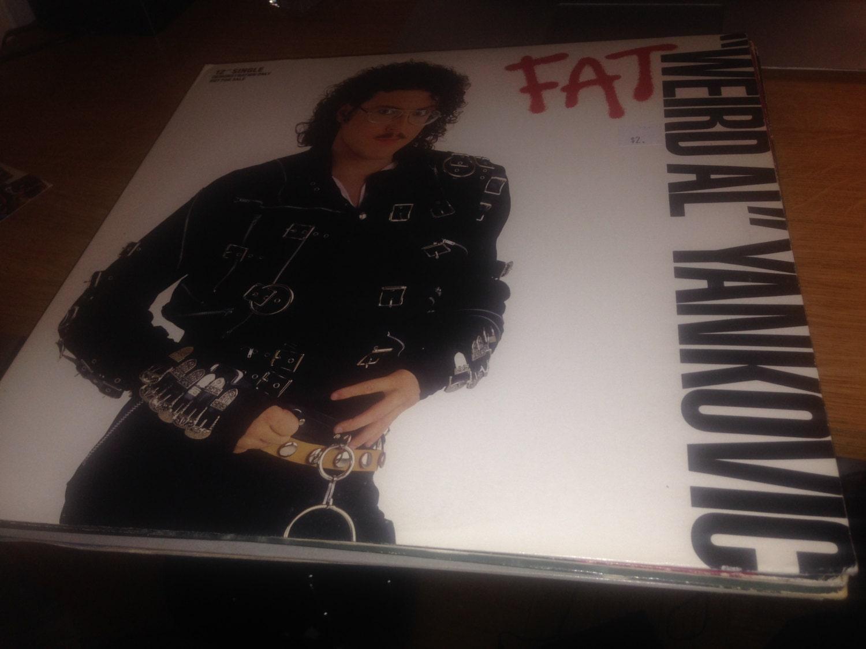 weird al yankovic fat vinyl/lp single mint 1988