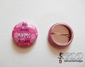 Eat Sleep Anime Repeat Button 1 Inch Pink Kawaii Pin Back Button Otaku Badge