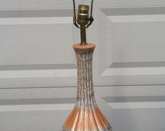 Mid Century Orange and White Lamp