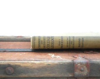 Chamberlin and Salisbury's College Geography, 1934, olive green, vintage book