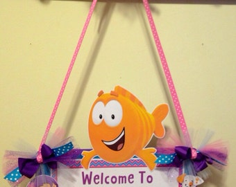 Bubble Guppies Door Sign