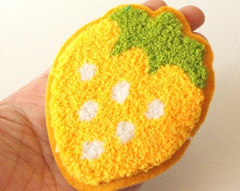 1 x Yellow Strawberry Applique Patch