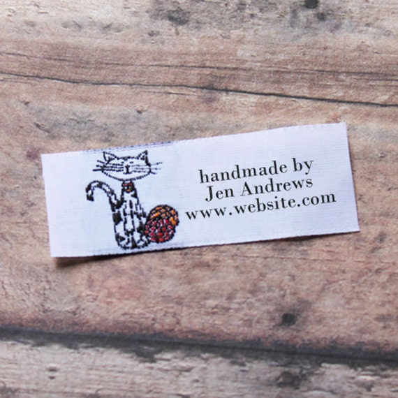 20 woven clothing labels custom labels vintage labels woven for Custom tags for crafts
