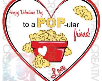 POPular Friend Valentines Printable Valentines
