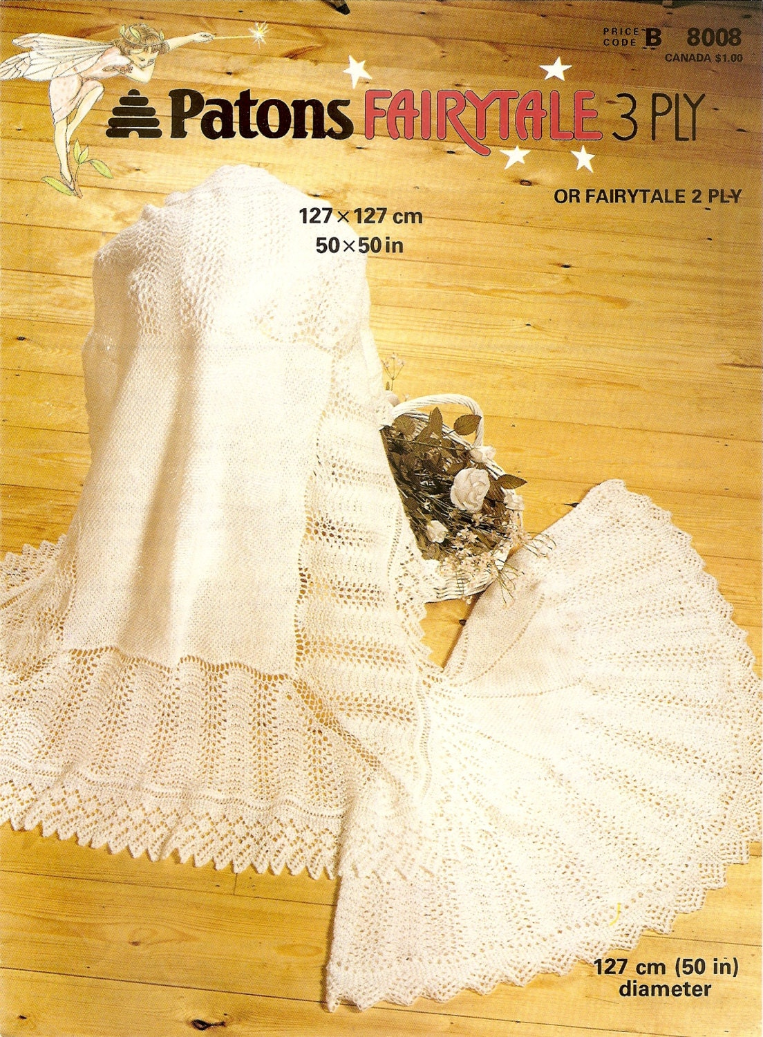 Pdf Knitting Pattern Lacy Baby Shawls Patons 8008 Fairytale