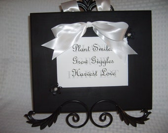 Plant Smiles Wood Framed Quote