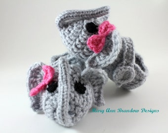 Little Elephant Baby Booties