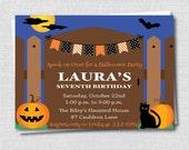 Spooky Halloween Night Invitation - Halloween Themed Birthday - Halloween Party - Digital Design or Printed Invitations - FREE SHIPPING