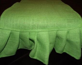 Chartreuse Burlap ruffled table runner