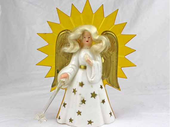 Items Similar To 1950s Vintage Christmas Angel Tree Topper