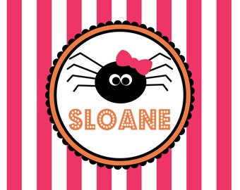 Personalized Placemat - 12x18 laminated placemat hallowen spider