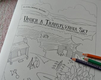 Appalachian History Activity and Coloring Book