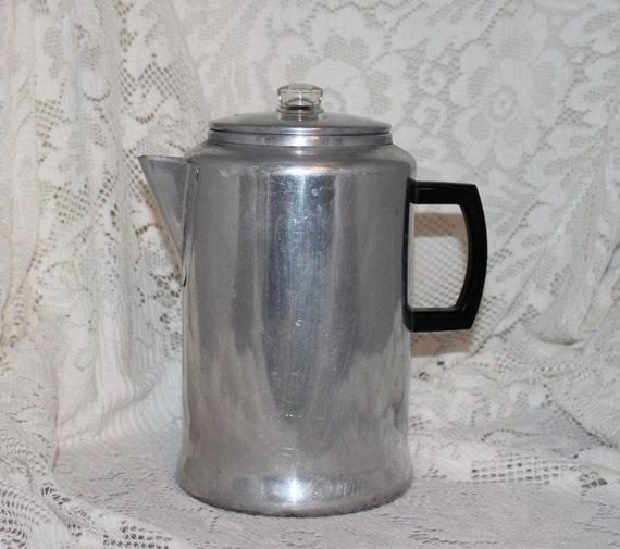 20 Cup Aluminum Coffee Pot Percolator Stove Top Coffee Pot