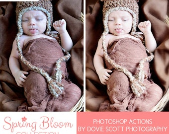 Spring Bloom Collection Photoshop Actions ELEMENTS 7-10 (PSE) - Spring Edits