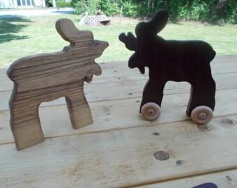 Animal Push Toy - Moose Push Toy