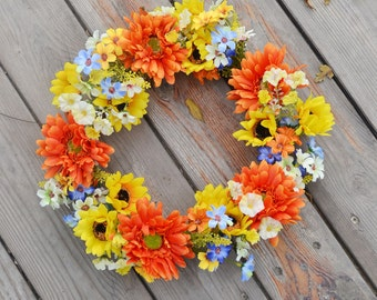 artificial flower wreath decoration
