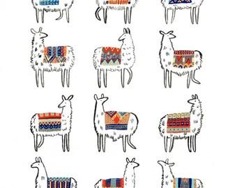 Llama-rama Print