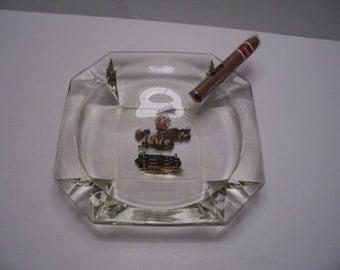 Large  Cigar Ashtray w/ Thewell Pony Art