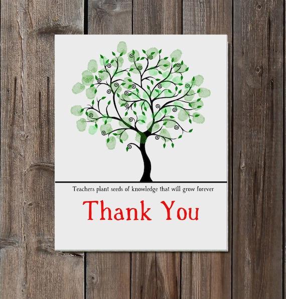 Teacher Appreciation gift: Retirement Fingerprint by ...