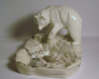 Popular items for fish figurines on etsy for Snow bear ice fishing