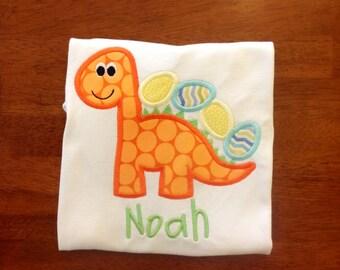 Dinosaur Easter Egg Applique Shirt