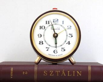 VITJAZ - Vintage Mechanical Alarm Clock / Made in CCCP