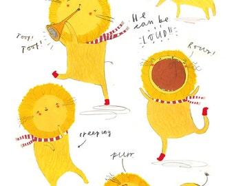 A3 Lion Print